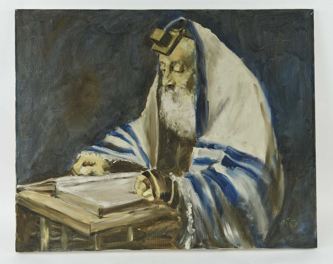 BETTY ELIE RABBI PAINTING