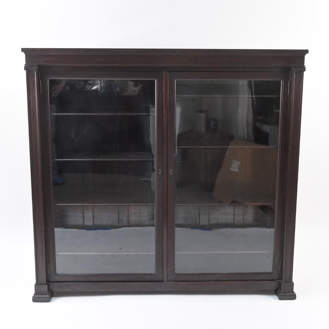 C. 1900 GLASS FRONT BOOKCASE DISPLAY CABINET