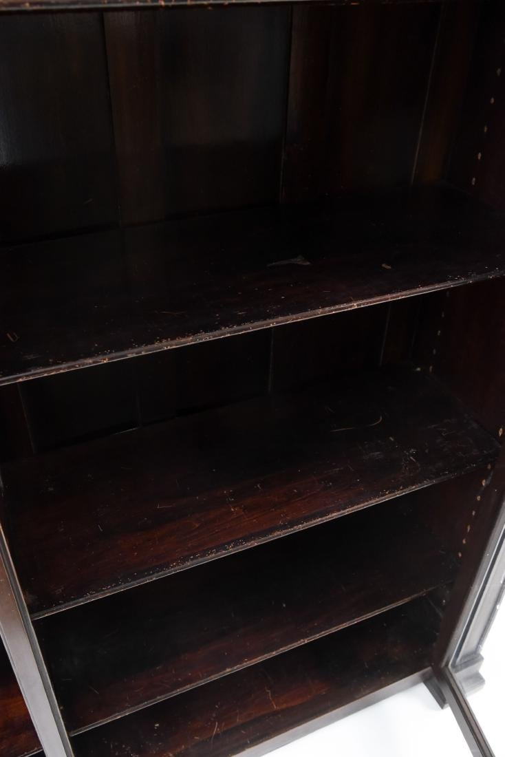 C. 1900 GLASS FRONT BOOKCASE DISPLAY CABINET - 8