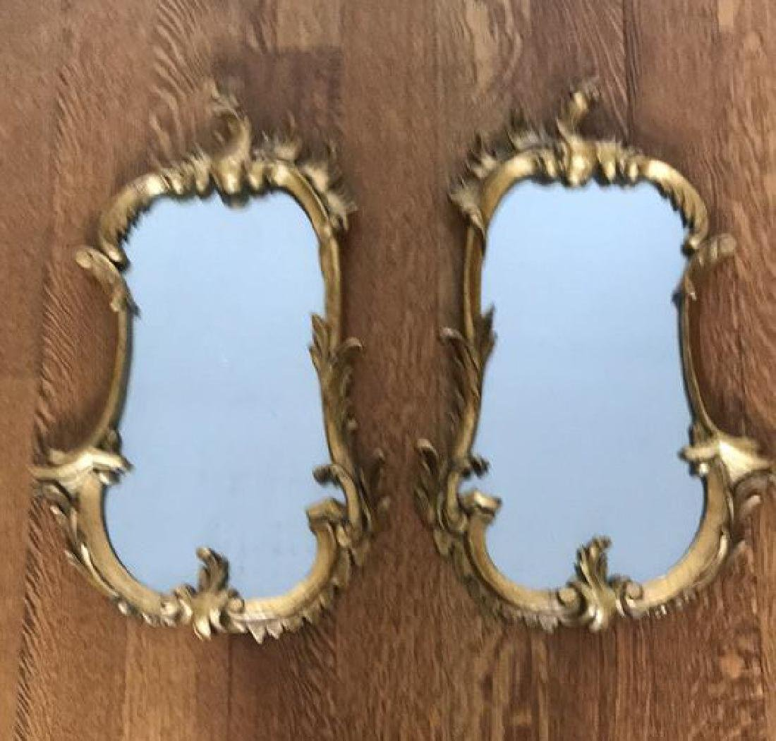 PAIR OF CARVED WOOD GILT MIRRORS