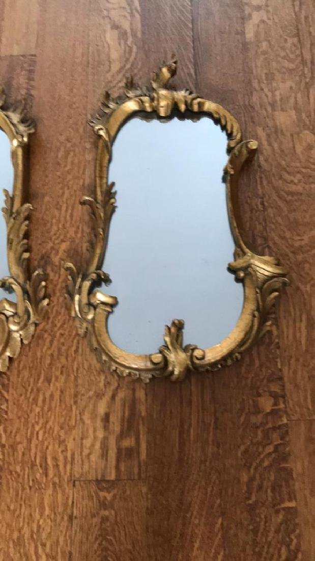 PAIR OF CARVED WOOD GILT MIRRORS - 3