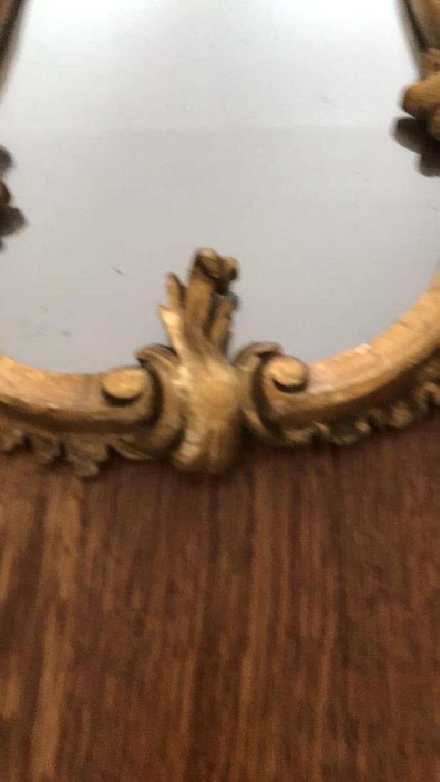 PAIR OF CARVED WOOD GILT MIRRORS - 4
