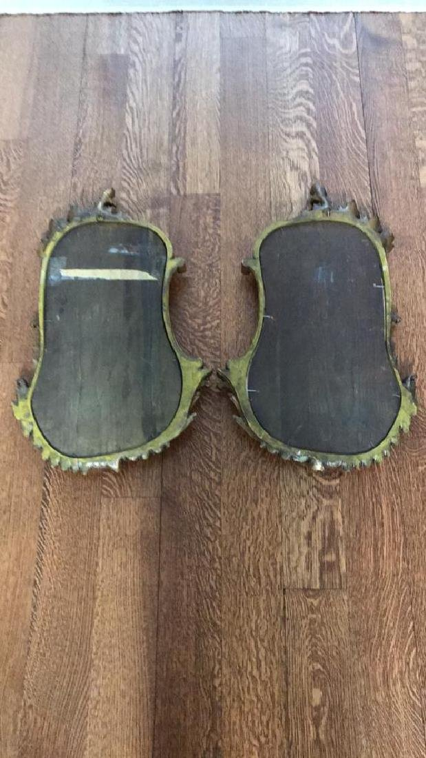 PAIR OF CARVED WOOD GILT MIRRORS - 8