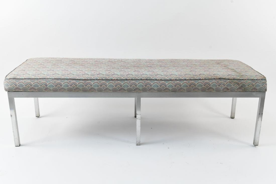 UPHOLSTERED MID-CENTURY BENCH