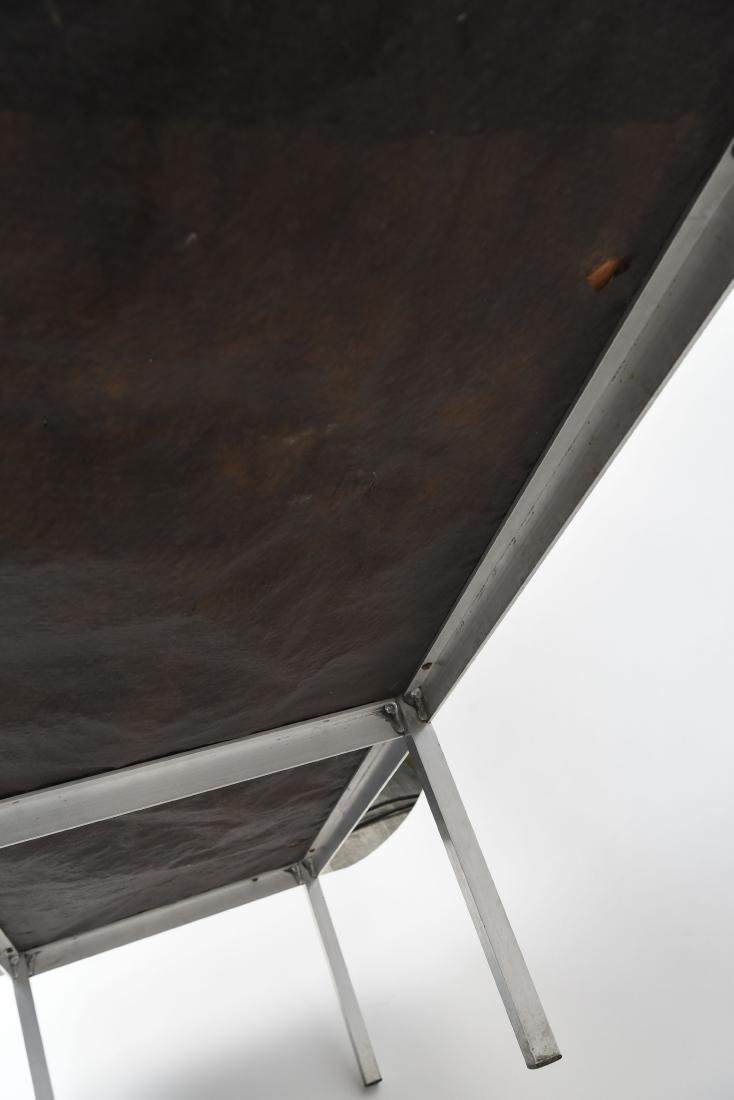 UPHOLSTERED MID-CENTURY BENCH - 8