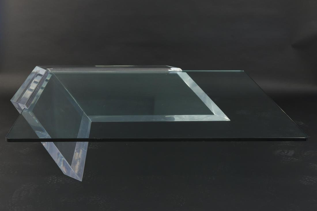 CHARLES HOLLIS JONES STYLE LUCITE COFFEE TABLE