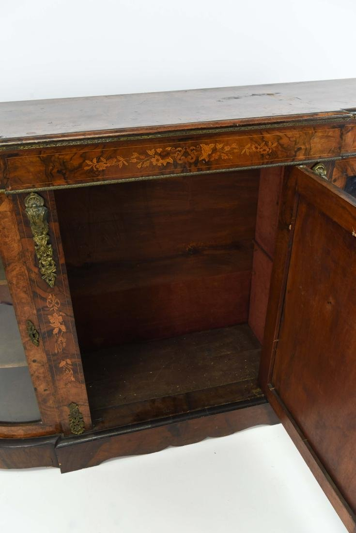 ANTIQUE INLAID AND ORMOLU SIDEBOARD CABINET - 10