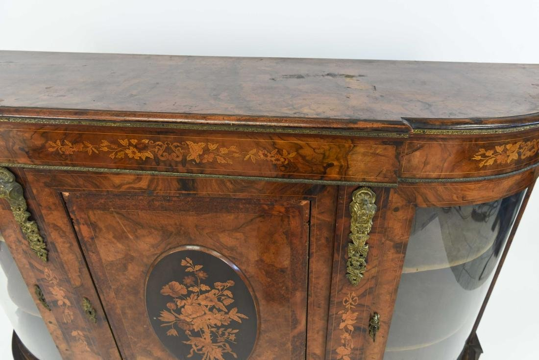 ANTIQUE INLAID AND ORMOLU SIDEBOARD CABINET - 3
