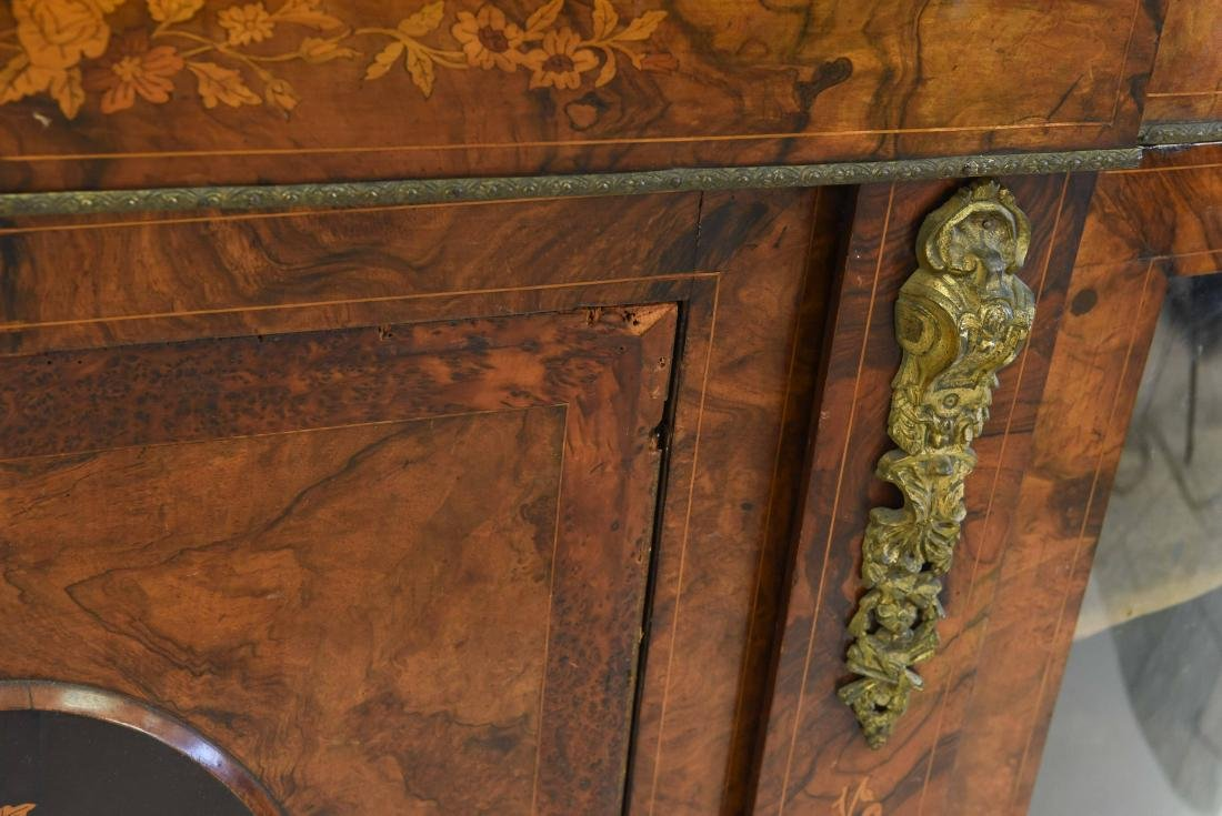 ANTIQUE INLAID AND ORMOLU SIDEBOARD CABINET - 6