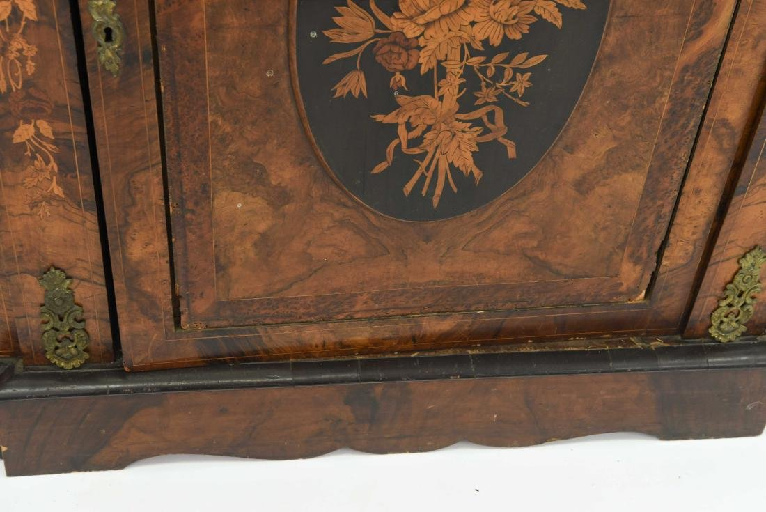 ANTIQUE INLAID AND ORMOLU SIDEBOARD CABINET - 7