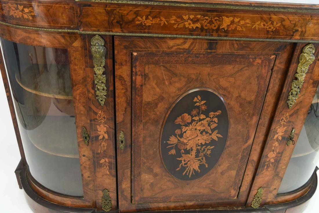 ANTIQUE INLAID AND ORMOLU SIDEBOARD CABINET - 8