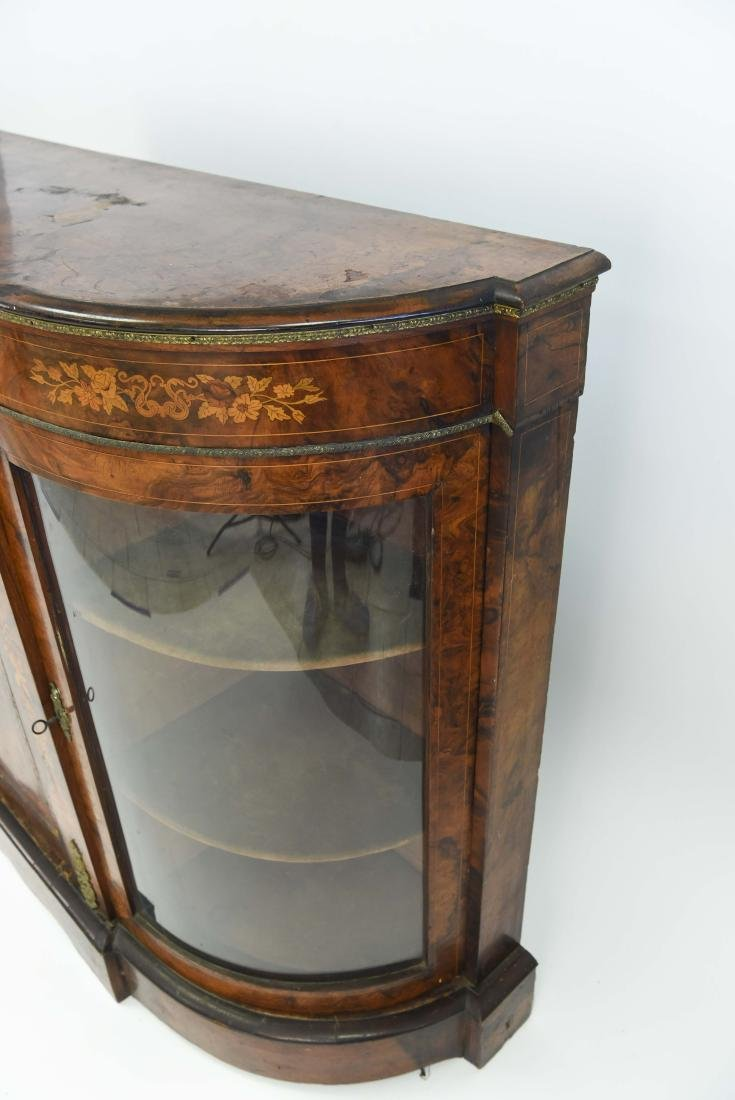 ANTIQUE INLAID AND ORMOLU SIDEBOARD CABINET - 9