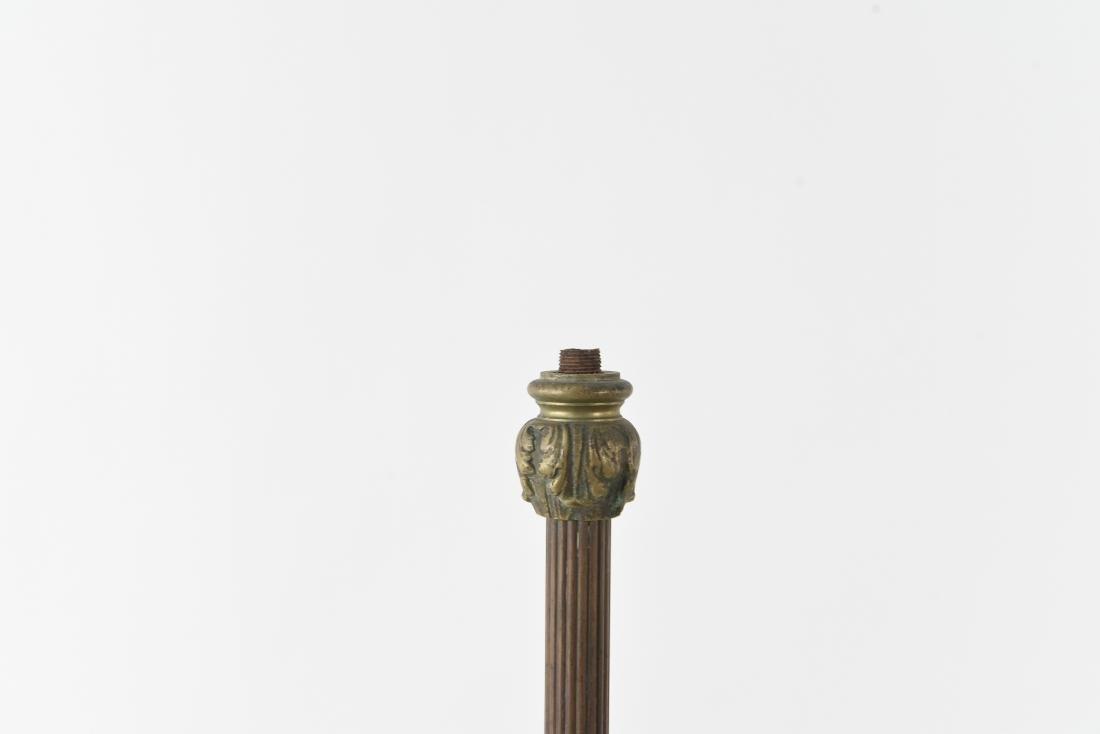 ORNATE BRONZE FLOOR LAMP BASE - 2