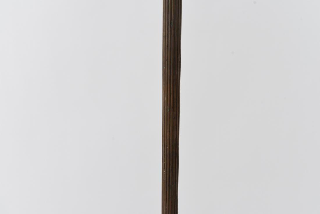 ORNATE BRONZE FLOOR LAMP BASE - 3