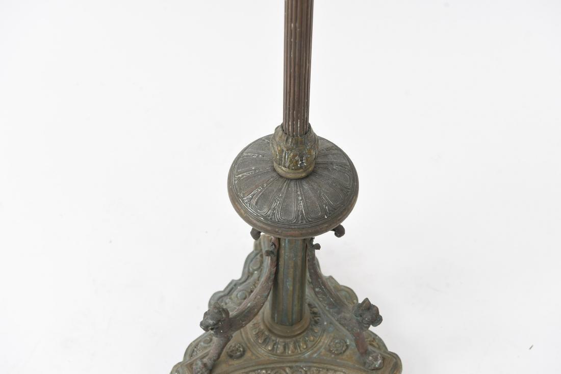 ORNATE BRONZE FLOOR LAMP BASE - 4