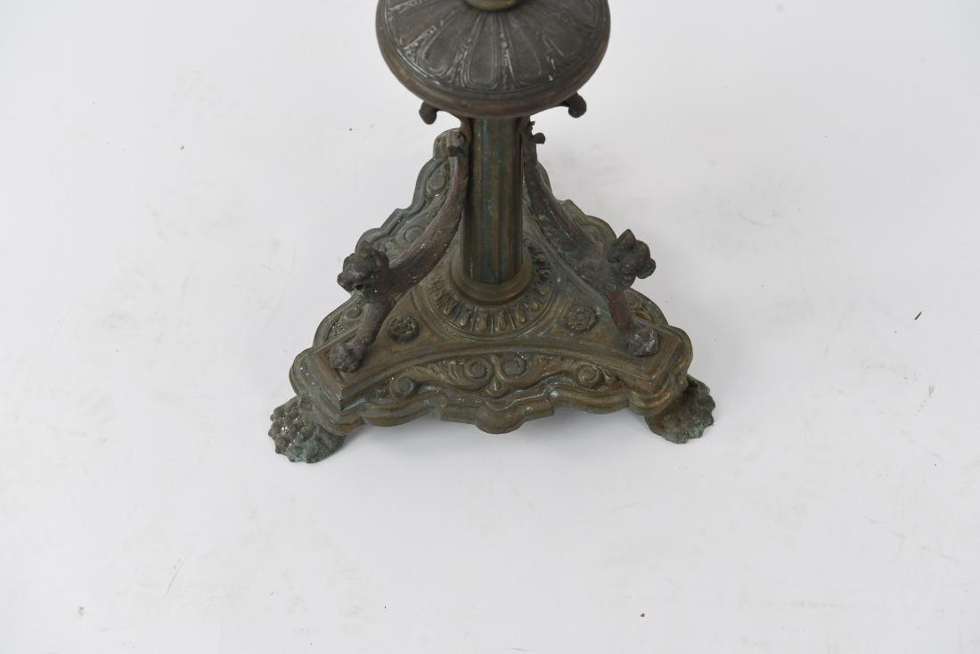 ORNATE BRONZE FLOOR LAMP BASE - 5