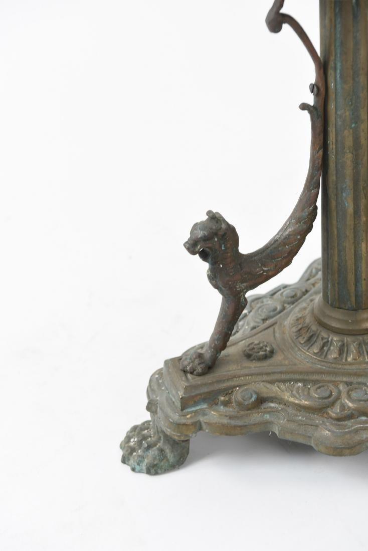 ORNATE BRONZE FLOOR LAMP BASE - 8