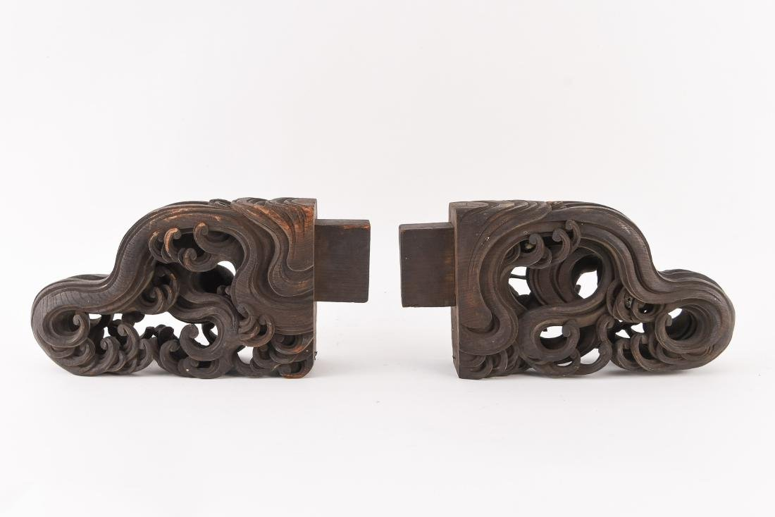 19TH C. CHINESE CARVED WOODEN ELEMENTS