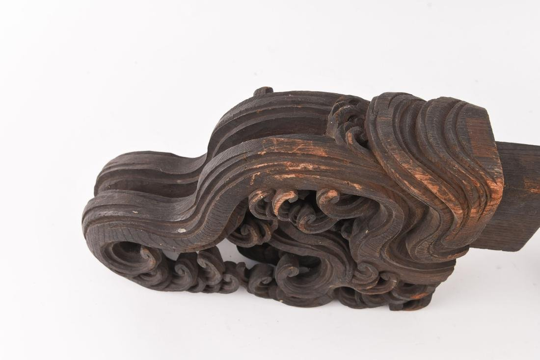 19TH C. CHINESE CARVED WOODEN ELEMENTS - 3
