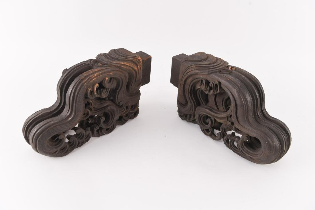 19TH C. CHINESE CARVED WOODEN ELEMENTS - 4