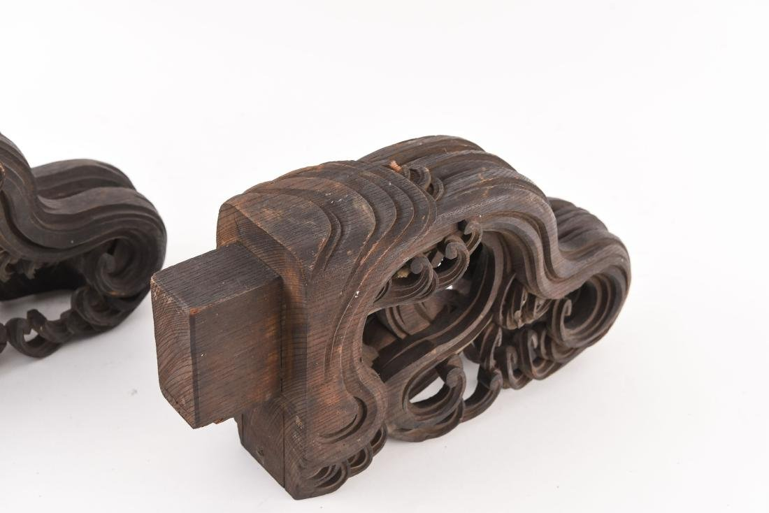 19TH C. CHINESE CARVED WOODEN ELEMENTS - 5