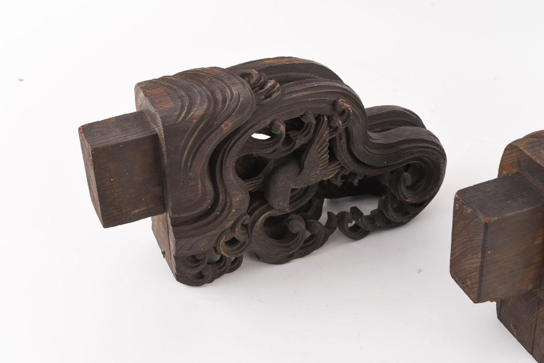 19TH C. CHINESE CARVED WOODEN ELEMENTS - 6