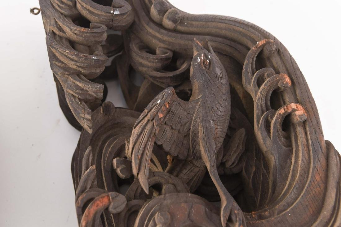 19TH C. CHINESE CARVED WOODEN ELEMENTS - 9