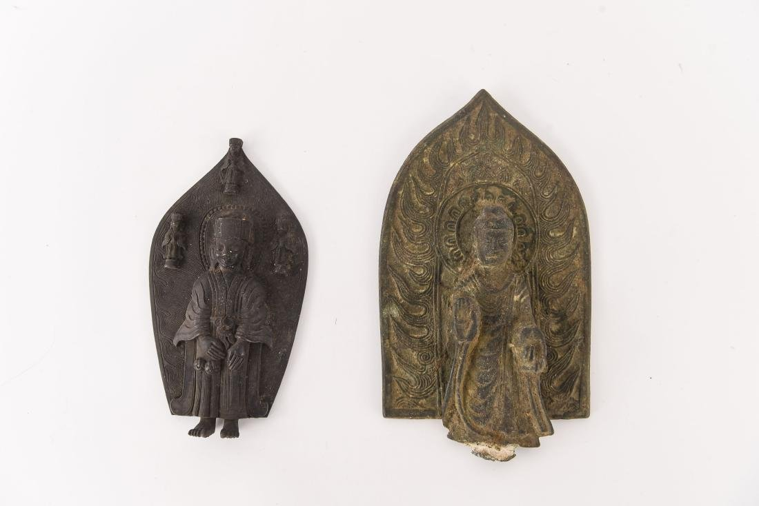 (2) CHINESE NORTHERN WEI STYLE BRONZES