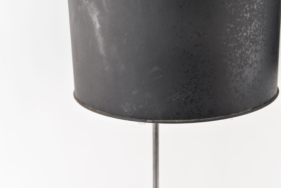 PAIR OF CHROME BALL FLOOR LAMPS - 2