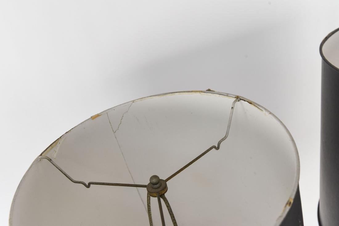 PAIR OF CHROME BALL FLOOR LAMPS - 3