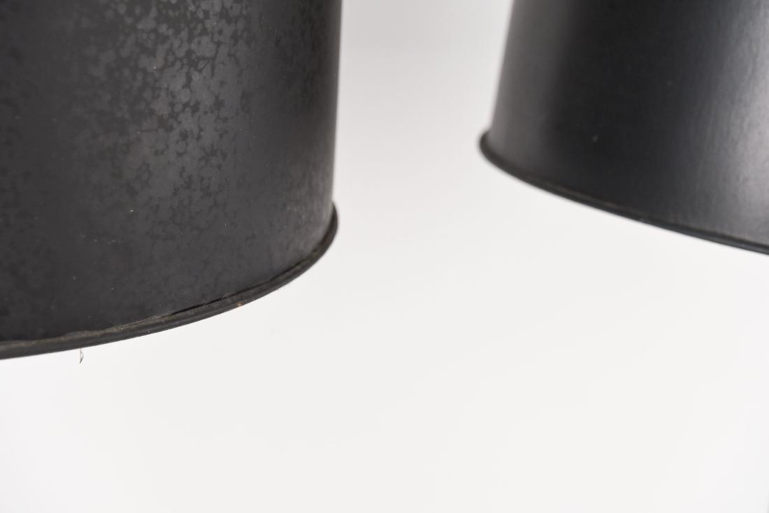 PAIR OF CHROME BALL FLOOR LAMPS - 9