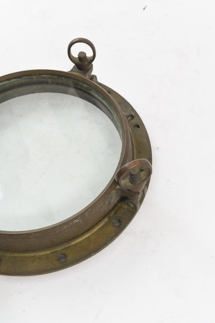 NAUTICAL BRONZE PORT HOLE WINDOW - 4