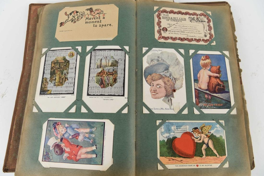 ANTIQUE POSTCARD & TRADE CARD COLLECTION
