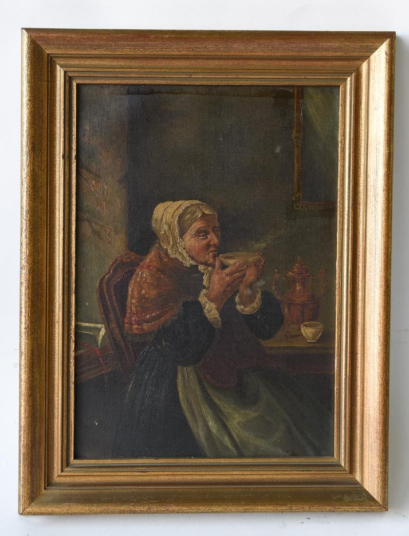 19TH C. O/C VICTORIAN PAINTING
