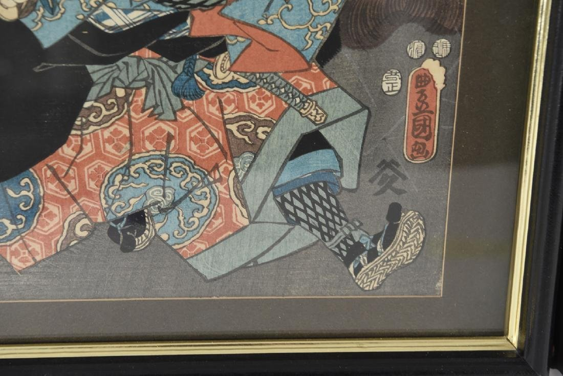 (2) UTAGAWA KUNISADA WOODBLOCK PRINTS - 10