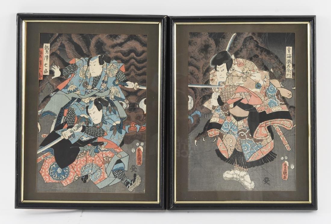 (2) UTAGAWA KUNISADA WOODBLOCK PRINTS