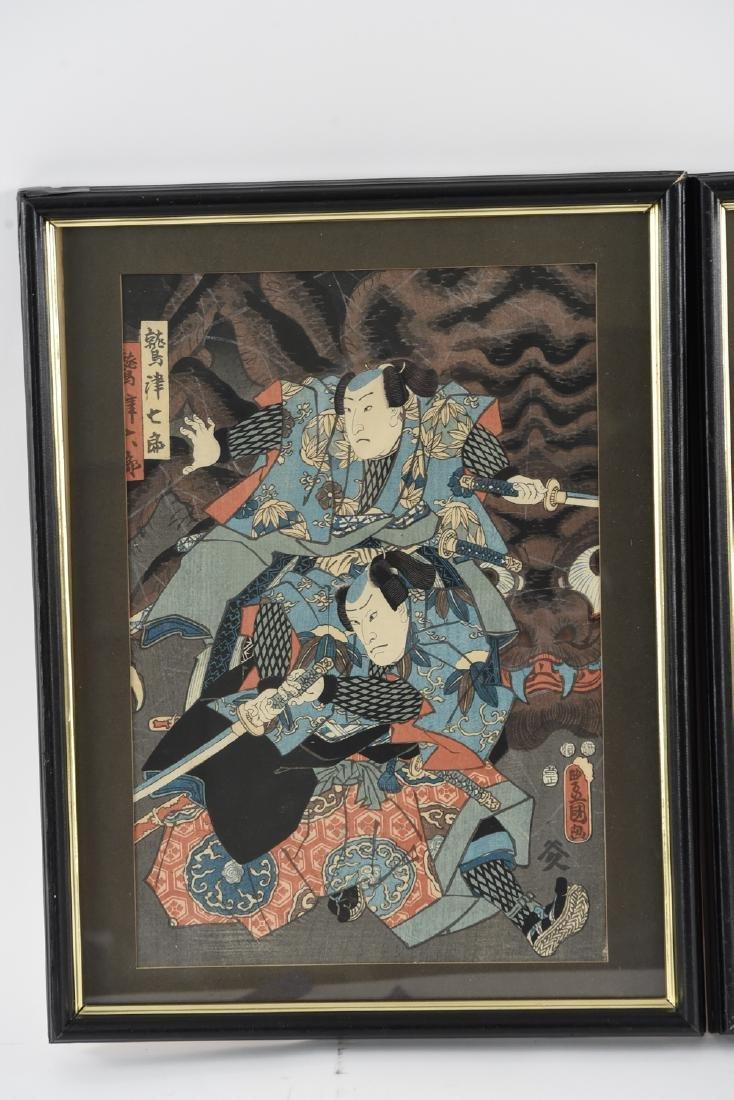 (2) UTAGAWA KUNISADA WOODBLOCK PRINTS - 2