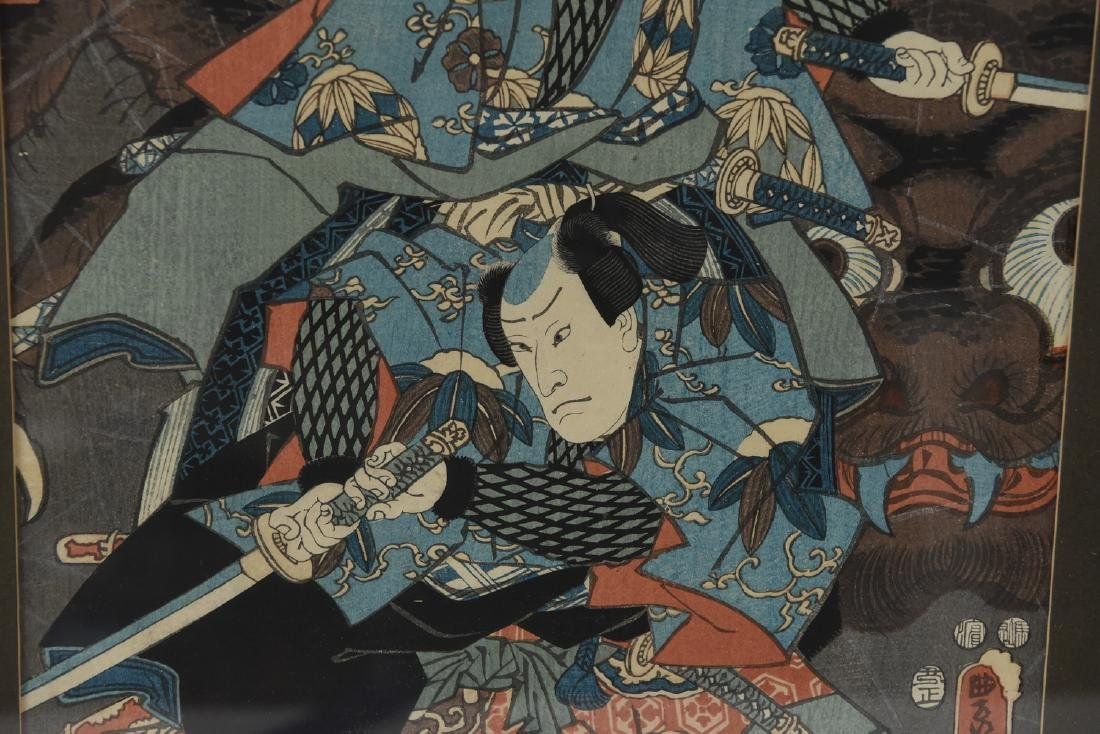 (2) UTAGAWA KUNISADA WOODBLOCK PRINTS - 9