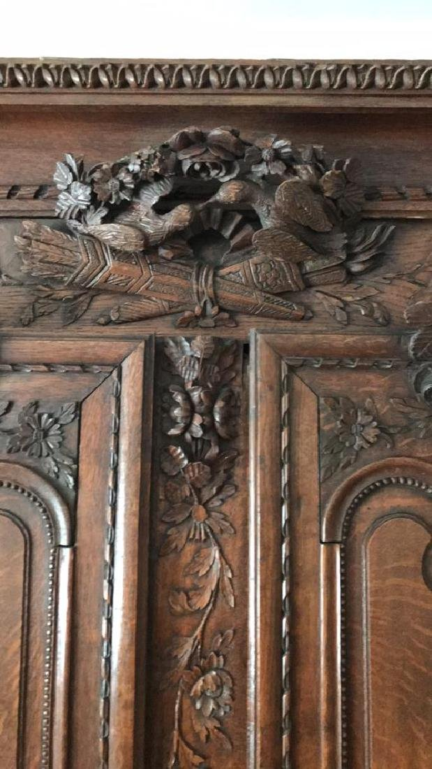 FRENCH CARVED ARMOIRE - 2