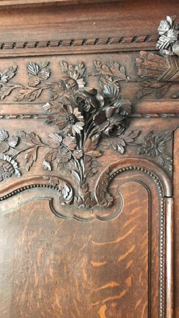 FRENCH CARVED ARMOIRE - 3