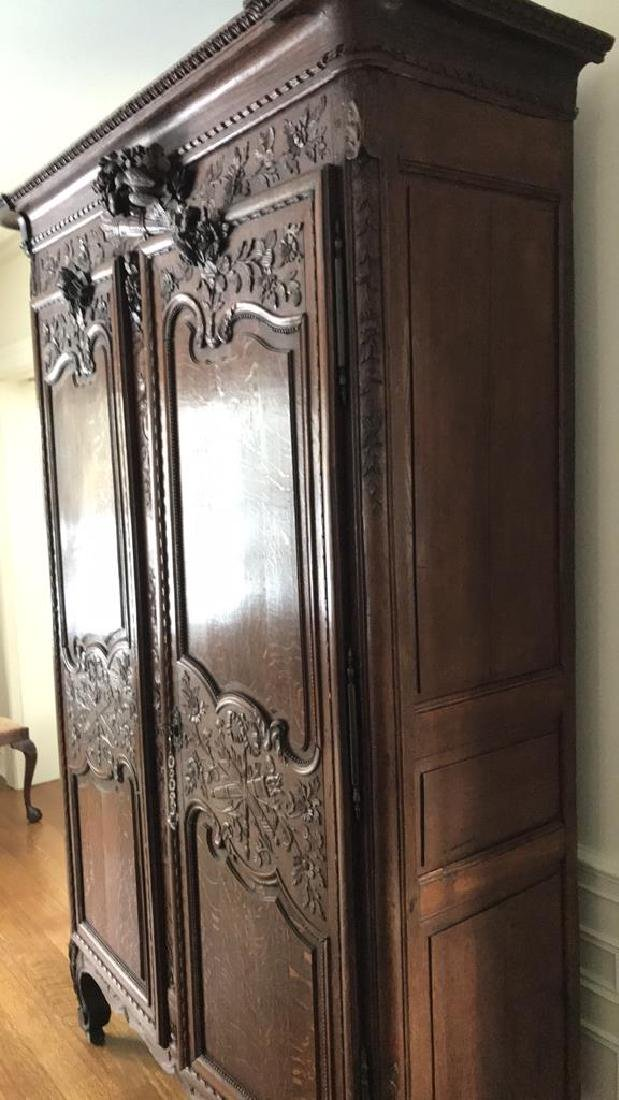 FRENCH CARVED ARMOIRE - 5