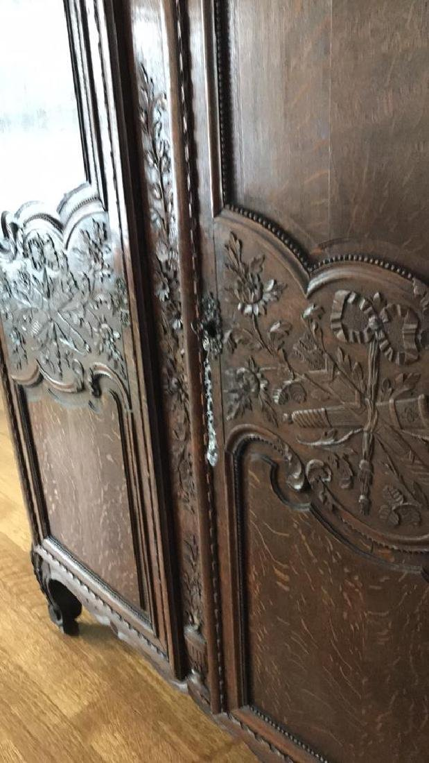FRENCH CARVED ARMOIRE - 7
