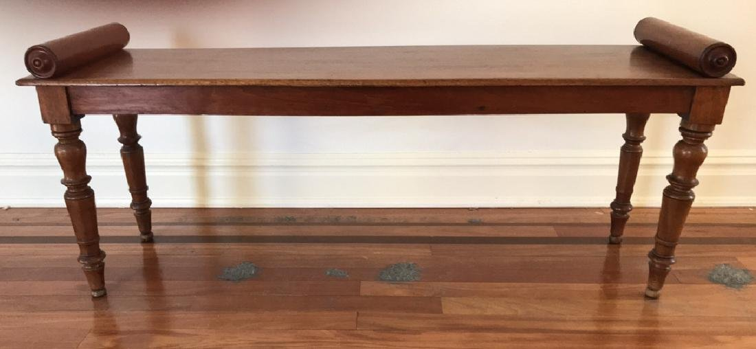 CUSTOM CARVED FAUX PILLOW BENCH CONSOLE TABLE