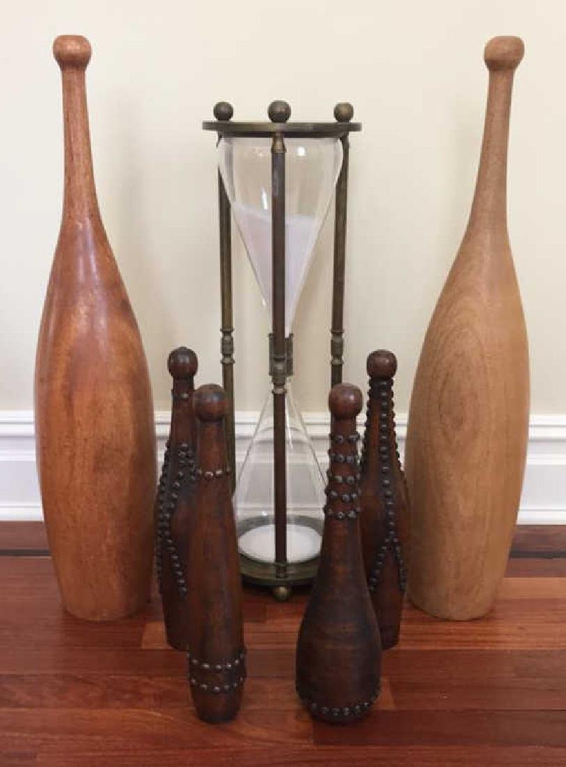 DECORATIVE GROUPING INCL BATONS HOURGLASS