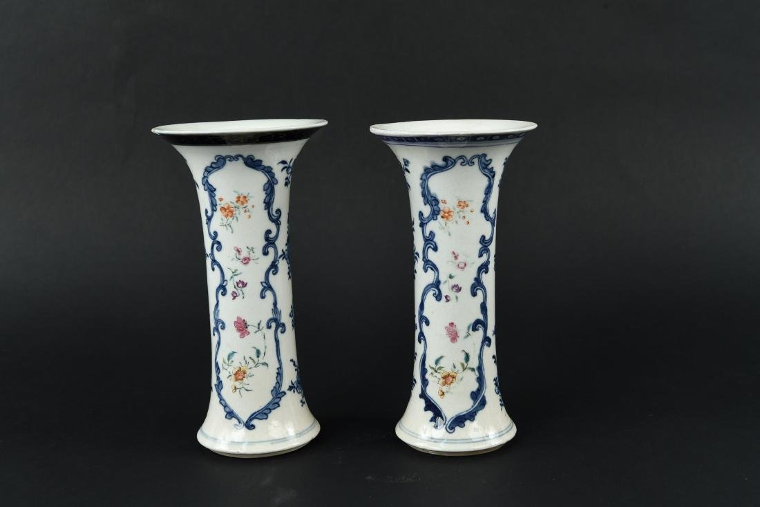 PAIR OF 18TH C. CHINESE EXPORT VASES