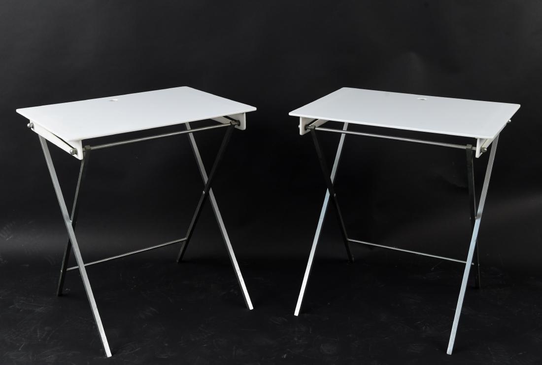 PAIR OF FOLDING ACRYLIC TRAY TABLES
