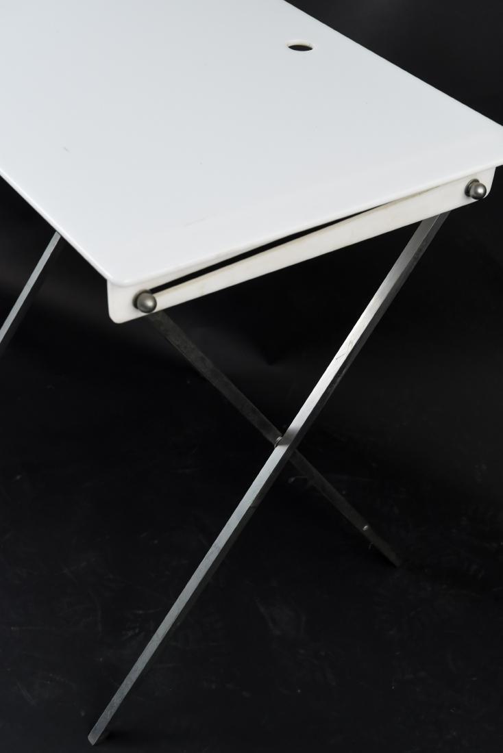 PAIR OF FOLDING ACRYLIC TRAY TABLES - 3