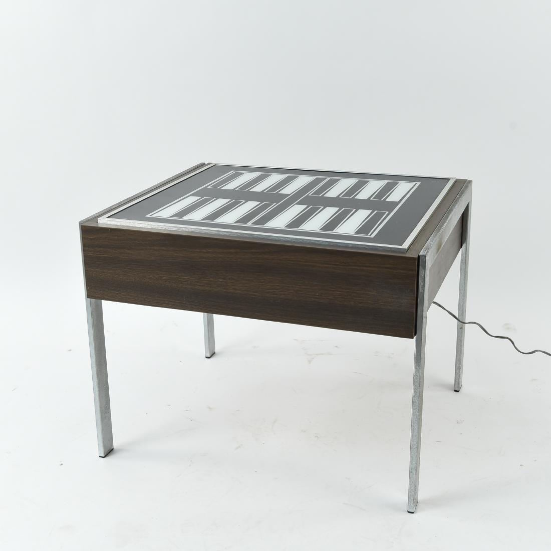 C. 1970S ILLUMINATED BACKGAMMON TABLE