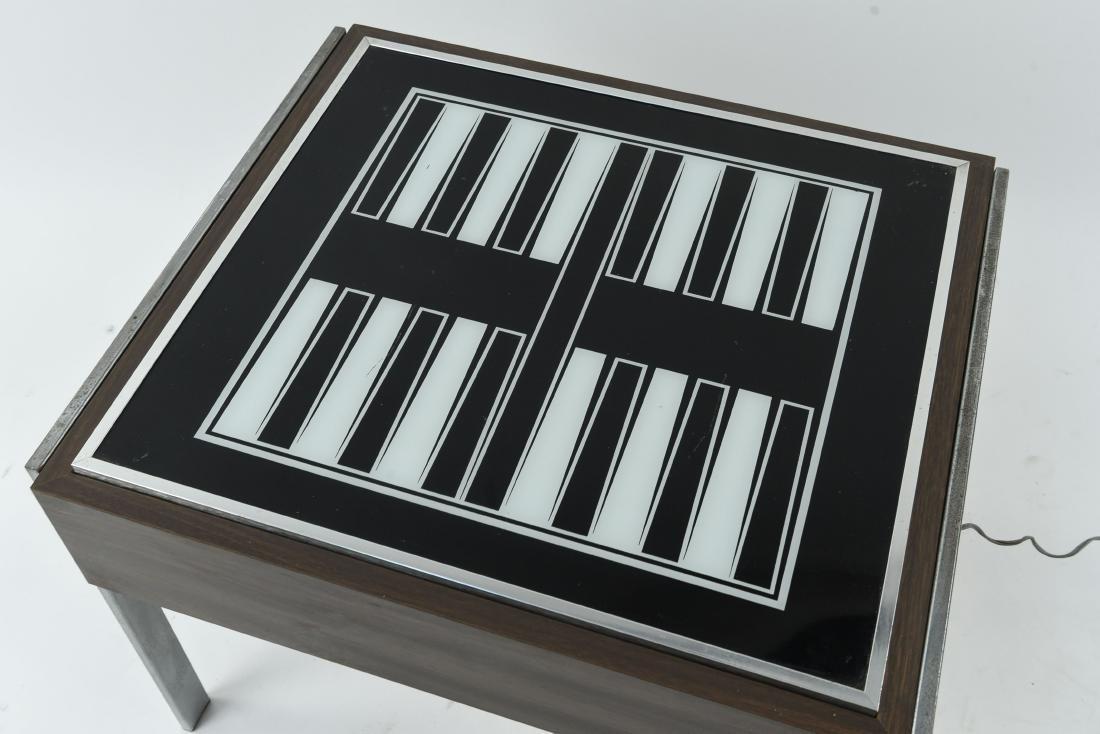 C. 1970S ILLUMINATED BACKGAMMON TABLE - 2