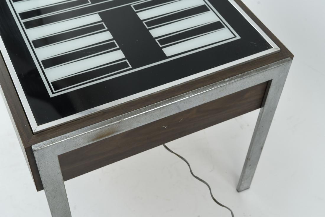 C. 1970S ILLUMINATED BACKGAMMON TABLE - 4